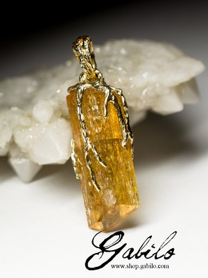 Golden pendant with topaz Imperial