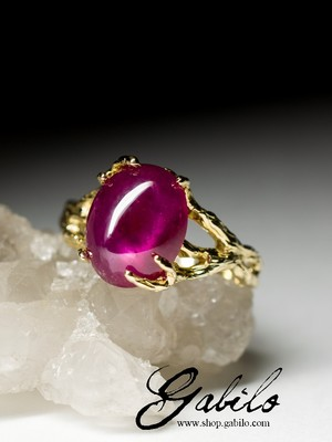 Made to order: Ruby gold ring
