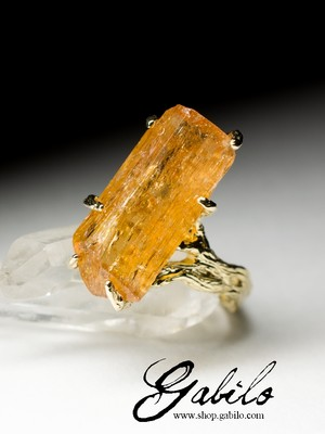 Made to order: Gold Ring with Topaz Imperial
