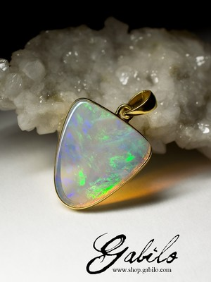 Made-to-order: Opal Gold Pendant