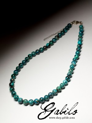 Beads from the chrysocolla