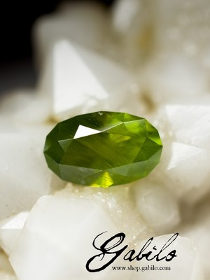 Cutting of demantoid 0.94 carats