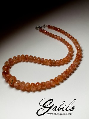 Sunstone Beaded Necklace