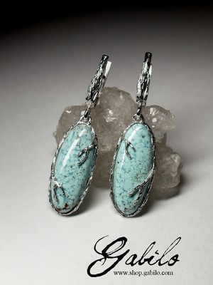 Amazing Turquoise Silver Earrings