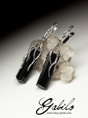 Silver Earrings with Sherlock