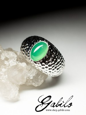 Made to order: Chrysoprase gold ring