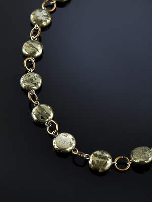 Beads from pyrite