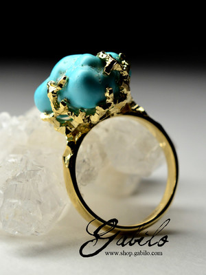 Made to order: Turquoise Gold Ring
