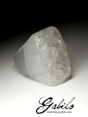 Big Solid Quartz Ring