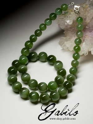 Beads from jade