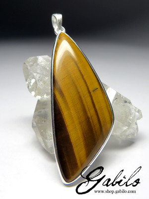 Tiger's Eye Silver Pendant