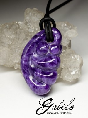 Pendant with charoite, first grade