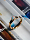 Opal gold ring with Jewelry Report MSU