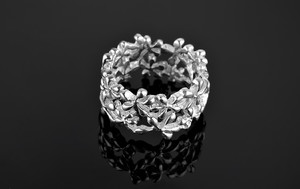 Ring silver openwork